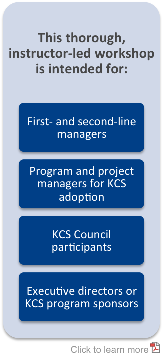 KCS v6 Leadership Workshop