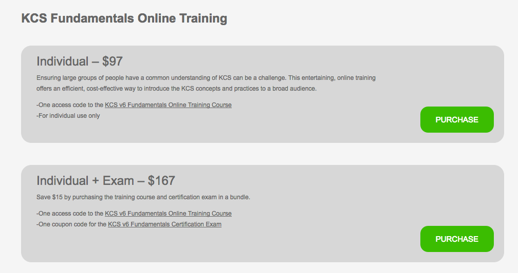 The Kcs Academy Online Training Instructions