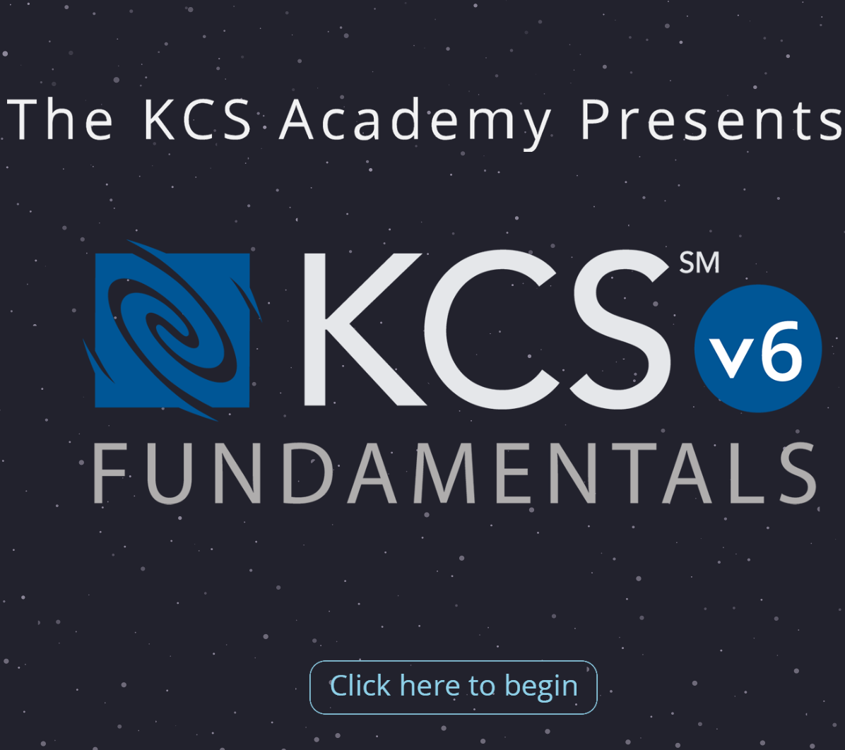 Demo the KCS v6 Fundamentals Online Training